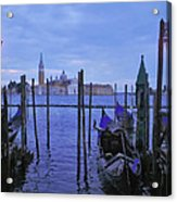 Blue Hour At The Docks Of San Marco Acrylic Print