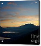 Blue Hour Over The Mountain Acrylic Print