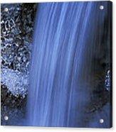 Blue Icy Waterfall Acrylic Print