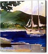 Blue Interlude Acrylic Print by Don F  Bradford