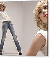 Blue Jeans Acrylic Print