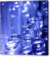 Blue Led Lights Pointing Upwards Acrylic Print