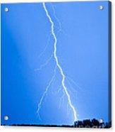 Blue Lightning Acrylic Print
