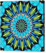 Blue Mandela 102311 Acrylic Print