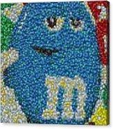 Blue Mm Mosaic Acrylic Print