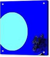 Blue Moon And Tree Acrylic Print
