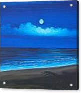 Blue Moon Acrylic Print by Delia Birnhak Swenson