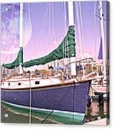 Blue Moon Harbor II Acrylic Print by Betsy Knapp