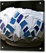 Blue Mosaic Bowl Acrylic Print by Ghazel Rashid