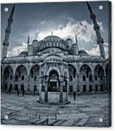 Blue Mosque Courtyard Acrylic Print