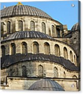 Blue Mosque Domes Acrylic Print