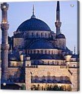 Blue Mosque Exterior Acrylic Print
