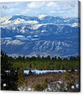 Blue Mountain View Acrylic Print