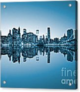 Blue New York City Acrylic Print
