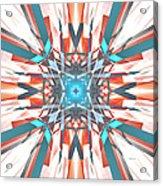 Blue Orange Kaleidoscope Acrylic Print