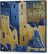 Blue Palace Greeting Card Acrylic Print