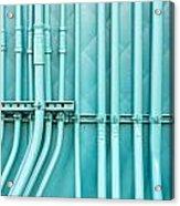 Blue Pipes Acrylic Print by Tom Gowanlock