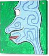 Blue Profile Acrylic Print