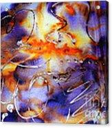 Blue Purple Orange Yellow And Silver  Acrylic Print by Alexandra Jordankova