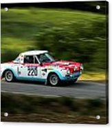 Blue Red And White Fiat Abarth Acrylic Print