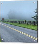 Blue Ridge Parkway At Northwest Trading Post I Acrylic Print