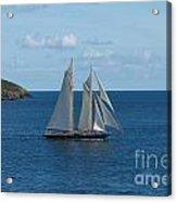 Blue Schooner 04 Acrylic Print