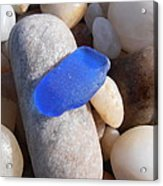 Blue Sea Glass Acrylic Print