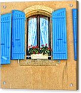 Blue Shutters In Provence Acrylic Print