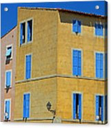 Blue Shutters Martigues France Acrylic Print