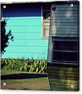 Blue Siding And Camper Acrylic Print