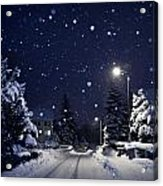 Blue Silent Night Acrylic Print