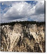 Blue Skies And Grand Canyon In Yellowstone Acrylic Print
