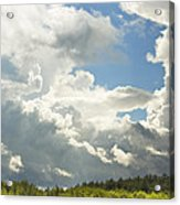 Blue Sky And Building Storm Clouds Fiane Art Print Acrylic Print