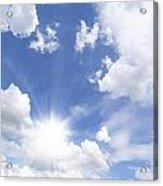 Blue Sky And Sun Ray Acrylic Print