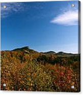 Blue Sky And Thin Clouds Acrylic Print