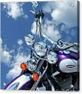 Blue Sky Harley Acrylic Print