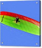 Blue Sky Paraglider Acrylic Print