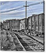 Blue Sky Train2 Acrylic Print