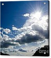 Blue Sky With Clouds Acrylic Print