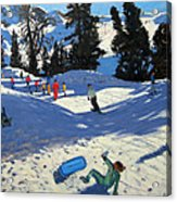 Blue Sledge Acrylic Print