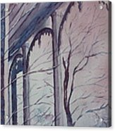 Blue Snow Acrylic Print by Patsy Sharpe