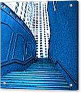Blue Stairs Acrylic Print