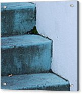 Blue Stairs Acrylic Print