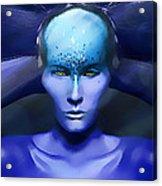 Blue Star Acrylic Print by Yosi Cupano