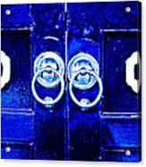 Blue Temple Doors Acrylic Print