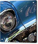 Blue Thunder - Classic Antique Car- Detail Acrylic Print