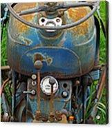 Blue Tractors Driver's Seat Acrylic Print