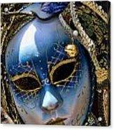 Blue Venetian Mask Acrylic Print