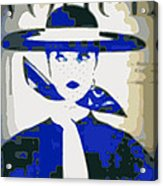 Blue Vogue Acrylic Print