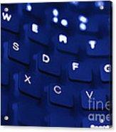Blue Warped Keyboard Acrylic Print